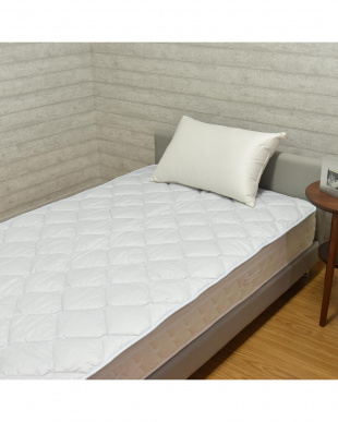 ブルー 英国産ハンプシャー種 洗える羊毛ベッドパッド シングル ブルーを見る