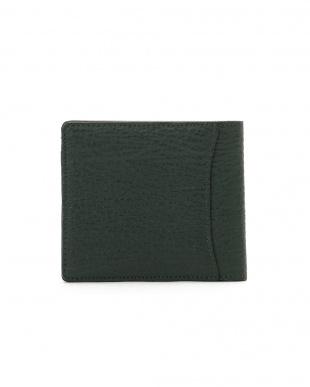 グリーン/ブラック シャークレザー 日本鞣し染色 二つ折り財布を見る