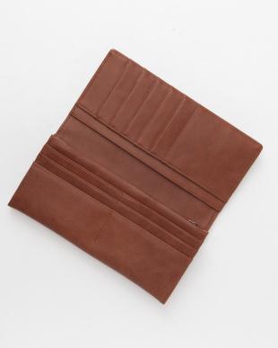 ブラウン フランコフェラーロフェイクレザー長財布を見る