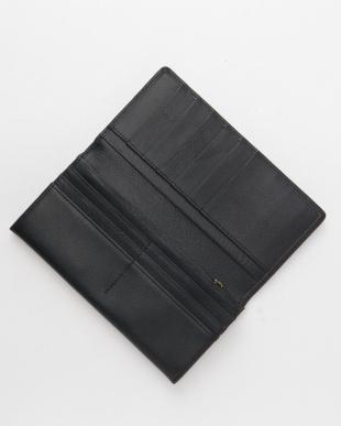 ネイビー フランコフェラーロ牛革長財布を見る