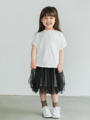 WHITE ピュアコットンオーバーサイズフレンチスリーブTシャツを見る