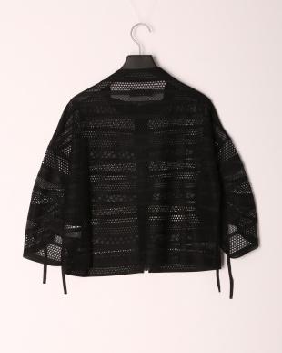 98/無彩色I(ブラック) 袖コンシャスレースブルゾンを見る