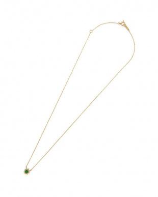 イエローゴールド K18YG エメラルド ダイヤモンド ネックレスを見る