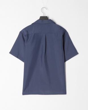 インクブルー ポリトロ両ポケオープンシャツを見る
