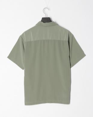 グリーン ポリムジオープンシャツを見る