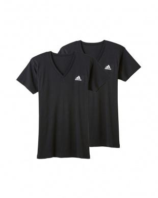 ブラック VネックTシャツ×2枚組 3SETを見る