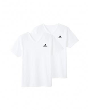 ホワイト VネックTシャツ×2枚組 3SETを見る