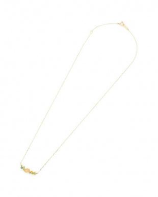 イエローゴールド K10YG×マルチストーン ネックレスを見る