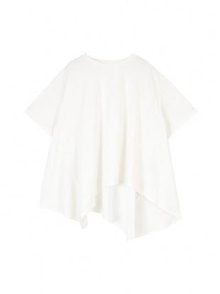 オフホワイト ランダムヘムフレアTシャツを見る