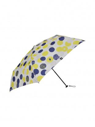 イエロー moz 耐風骨UV軽量折りたたみ傘 ドットを見る