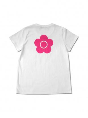 ホワイト×ピンク フロントロゴバックデイジー Tシャツ(ホワイト×ピンク)を見る