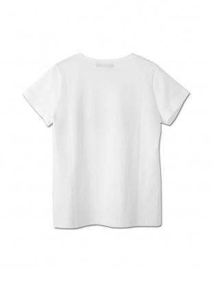 ベージュ ギンガムチェックアップリケ Tシャツ(ベージュ)を見る