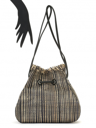 ブラック RAFFIA SHEET DRAWSTRING 2WAY 巾着バッグを見る