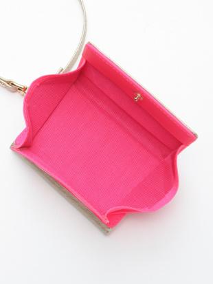 ピンク KUBERA tri-fold wallet (champagne gold non-woven)を見る