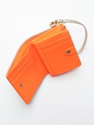 オレンジ KUBERA Lf-wallet small (champagne gold non-woven)を見る