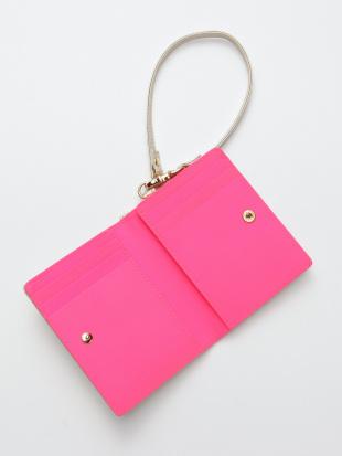 ピンク KUBERA bi-fold wallet (champagne gold non-woven)を見る