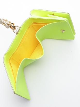 イエロー KUBERA tri-fold wallet (pink gold non-woven)を見る