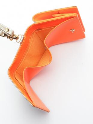 オレンジ KUBERA tri-fold wallet (pink gold non-woven)を見る