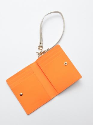 オレンジ KUBERA bi-fold wallet (pink gold non-woven)を見る