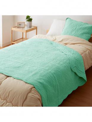 ターコイズ タオル素材でさらさら綿パイル ソファカバー 105×150cm ターコイズを見る