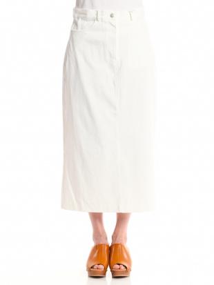 ホワイト コットンマキシスカートを見る