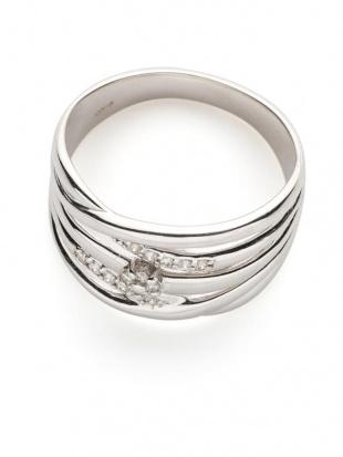 ホワイトゴールド K18WG ダイヤモンド 0.10ct デザインリンを見る
