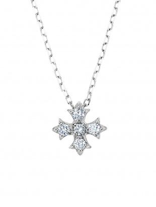 ホワイトゴールド K18WG ダイヤモンド モチーフネックレスを見る