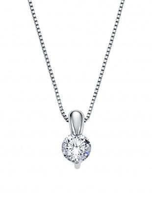プラチナ ダイヤモンド ワンポイント ネックレスを見る