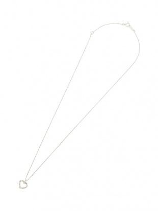 プラチナ ダイヤモンド ハートモチーフ ネックレスを見る