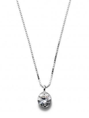 ホワイトゴールド K18WG ダイヤモンド ワンポイント ネックレスを見る