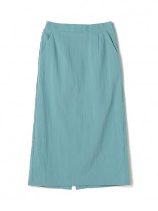 アクアグリーン ナイロンストレッチIラインスカートを見る