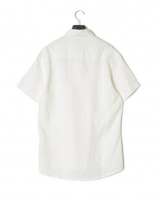 ホワイト AX リネンメンズシャツを見る