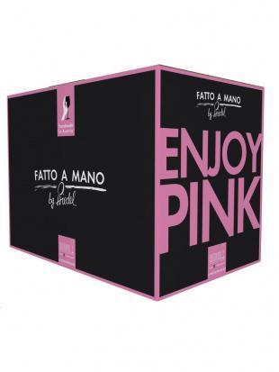 [ハンドメイド][ファット・ア・マーノ]シャンパーニュ・ワイン・グラス ピンク セット (6脚入)を見る