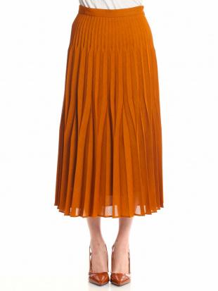 ブラウン メランジクロススカートを見る