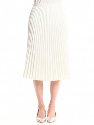 ホワイト プリーツスカートを見る