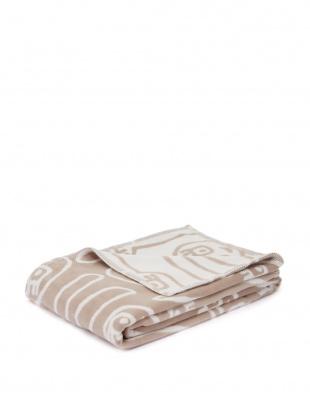 ブラウン アツコマタノ ゆるうさ 綿毛布を見る