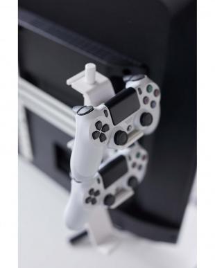 テレビ裏 ゲームコントローラー収納ラック スマート ホワイトを見る