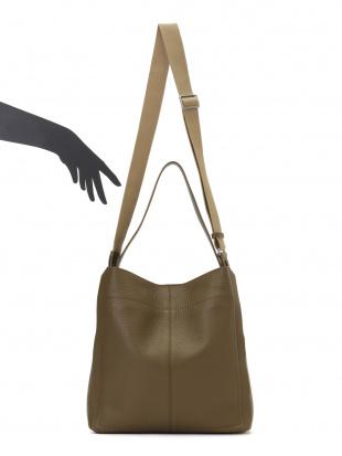 ミリターレ (ミリタリーグリーン) + ネロ(ブラック) レザー 配色切替 2WAYバッグを見る
