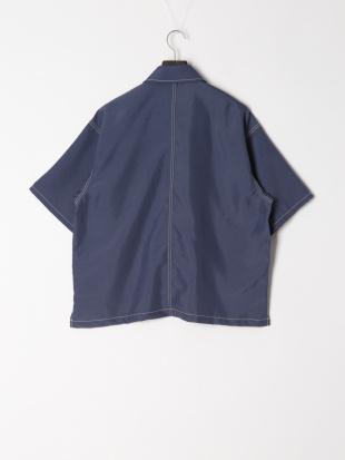 インクブルー ポリトロステッチシャツを見る