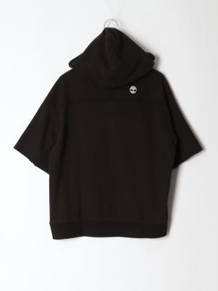 Black Short Sleeve Logo Sweatshirt HoodieFQを見る