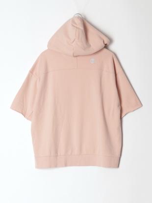 Sepia Rose Short Sleeve Logo Sweatshirt HoodieFQを見る
