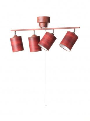 ブラウン 4灯シーリングライト 木調ブラウン+木調シェード付きを見る