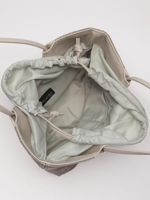 グレー*ライトグレー かごハンドバッグを見る