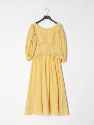 032 Amelia Long Dress YEL Fを見る