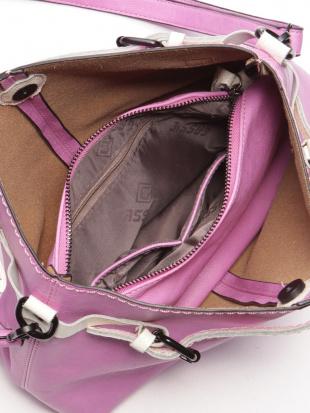 ピンク サイドベルトバッグを見る