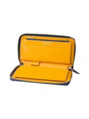 ネイビー×イエロー Singlezip Organizer Wallet MAMORIO inside Navy × Yellowを見る
