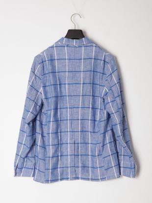 ブルー シャツジャケットを見る