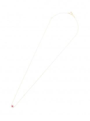 イエローゴールド K10YG ルビー ダイヤモンド ネックレスを見る