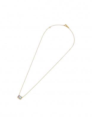 イエローゴールド K10YG アメシスト×ブルートパーズ バイカラー ネックレスを見る