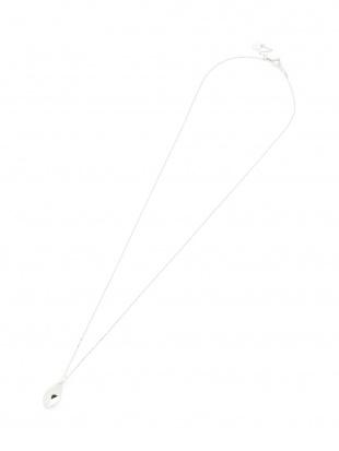 ホワイトゴールド K10WG メタルデザイン ネックレスを見る